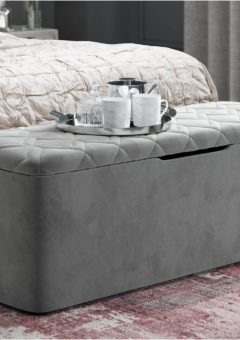 Neva Grey Blanket Box