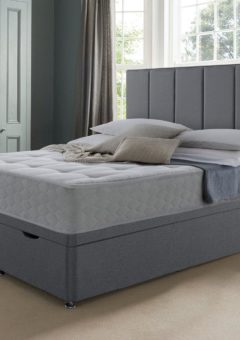 New Sealy Ottoman Base Only 4'6 Double GREY