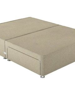 Therapur D P/T 2 Drw Leg Base Only Tweed Biscuit 4'6 Double BEIGE