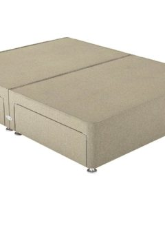 Therapur 4'0 P/T 4 Drw Base Only Tweed Biscuit 4'0 Small double BEIGE