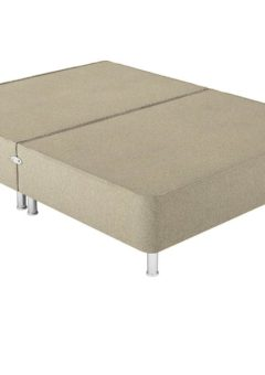 Therapur D P/T 0 Drw Leg Base Only Tweed Biscuit 4'6 Double BEIGE