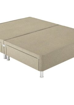 Therapur D P/T 4 Drw Leg Base Only Tweed Biscuit 4'6 Double BEIGE