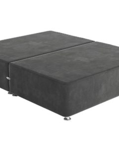 Sleepeezee D P/T 0 Drw Base Plush Pewter 4'6 Double GREY