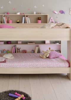 Lydia Bunk Bed 3'0 Euro single BROWN