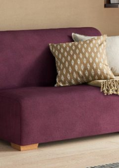 Cork 1 Seater A-Frame Sofa Bed - Plum Single PURPLE