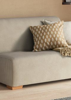 Cork 2 Seater 4'0 A-Frame Sofa Bed - Cream Small Double