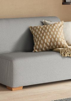 Cork 2 Seater 4'0 A-Frame Sofa Bed - Silver Small Double
