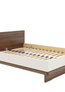 Cali Bed Frame - Champagne And Dark Wood 4'6 Double BROWN