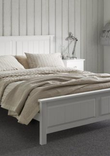 Woodbridge Wooden Bed Frame 5'0 King WHITE