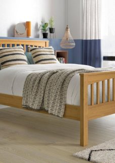 Fleetwood Oak Wooden Bed Frame 6'0 Super king BROWN