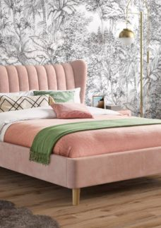 Knox Upholstered Bed Frame 5'0 King PINK