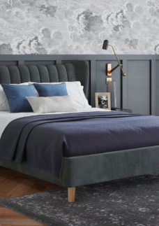 Knox Upholstered Bed Frame 4'6 Double GREY