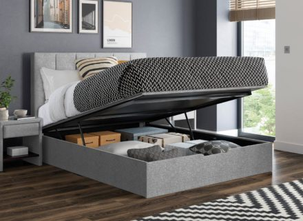 Ealing Silver Ottoman Bed Frame 5'0 King