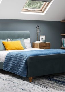 Marley S Bed Steel Blue 3'0 Single
