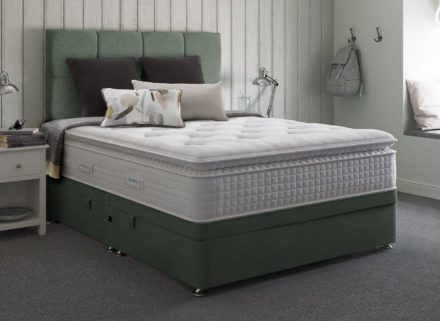 Therapur K Ottoman Base Only Tweed Mint 5'0 King