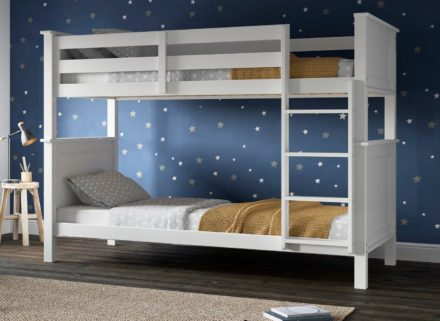 Pluto Wooden Bunk Bed WHITE