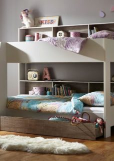 Erin Bunk Bed 3'0 Euro single WHITE