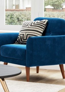Gallway Chair - Navy Velvet BLUE