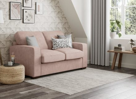 Odessa 2 Seater Sofa Bed Deluxe - Blush 2 Seater PINK