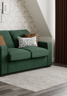 Odessa 2 Seater Sofa Bed Deluxe - Emerald Green 2 Seater