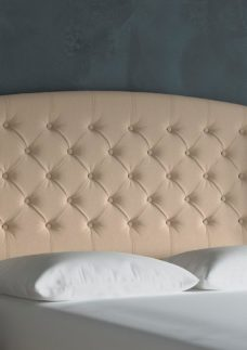 Canberra Winged Headboard 4'6 Double OATMEAL