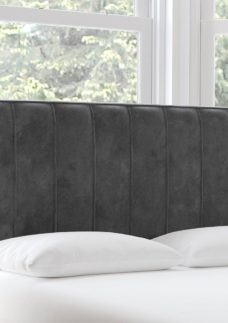Nocturne S Strutted H/B Plush Pewter 3'0 Single GREY
