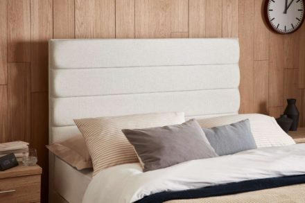 Contract Upholstered Headboard Single 3'0 Single SILVER