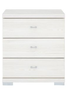 Fiji 3 Drawer Bedside Chest Polar CREAM