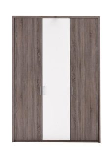 Melbourne 3 Door Hinged Wardrobe - Oak & White