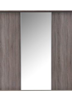 Melbourne 3 Mirror Door Sliding Wardrobe - Oak GREY