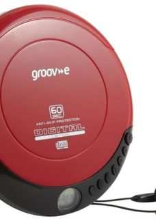 GROOV-E Retro GV-PS110-RD Personal CD Player - Red