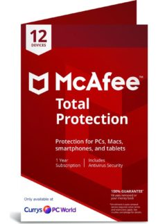 MCAFEE Total Protection - 1 year for 12 devices