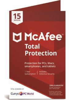 MCAFEE Total Protection - 1 year for 15 devices