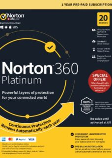 360 Platinum 2019 - 1 year for 20 devices