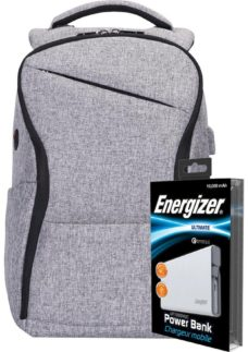 ENERGIZER EPB005 Backpack with Power Bank - Grey