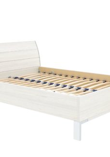 Fiji Bed Frame - Polar 4'6 Double WHITE
