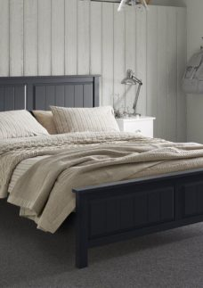 Woodbridge SD Bed Charcoal (Sprung) 4'0 Small double GREY
