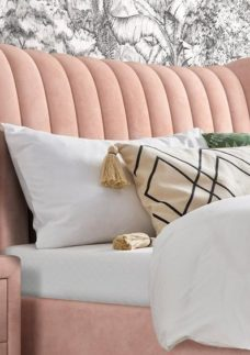 Knox Bedside Chest Pink