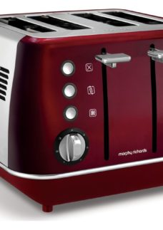 MORPHY RICHARDS Evoke One 4-Slice Toaster - Red