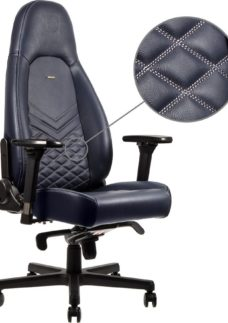 NOBLECHAIRS ICON Leather Gaming Chair - Blue
