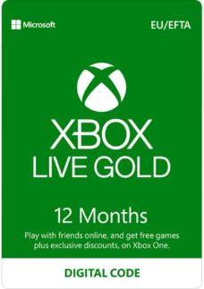 MICROSOFT Xbox Live Gold Membership 12 Month Subscription