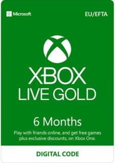 MICROSOFT Xbox Live Gold Membership 6 Month Subscription