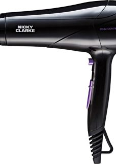 NICKY CLARKE Frizz Control NHD177 Hair Dryer - Black & Purple