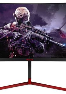 "AOC AG273QX Quad HD 27"" Curved LCD Gaming Monitor - Black & Red"
