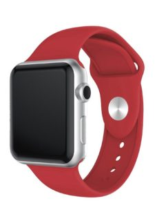 XQISIT Apple Watch 42 / 44 mm Silicone Strap - Red
