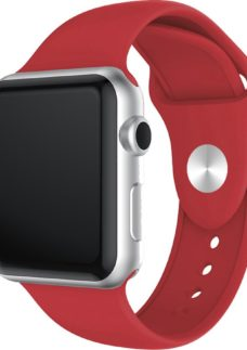 XQISIT Apple Watch 38 / 40 mm Silicone Strap - Red