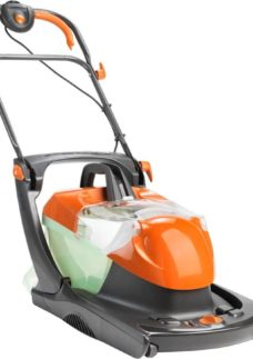 FLYMO Compact Glider 330AX Corded Hover Lawn Mower - Orange & Black