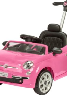 TOYRIFIC Vroom TY6107PK Fiat 500 Electric Ride On Toy - Pink