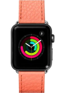 LAUT Apple Watch 38 / 40 mm Milano Leather Loop Strap - Coral