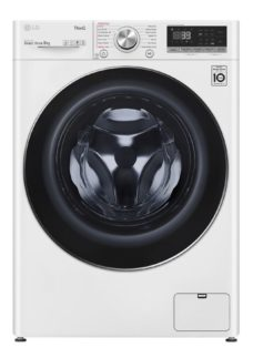 LG TurboWash 360 with AI DD V9 F4V909WTSE WiFi-enabled 9 kg 1400 Spin Washing Machine - White